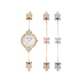 Set Reloj Pulsera Dama Anne Klein Ak/3042trst Swarovski