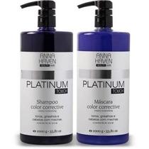 Anna Haven Platinum Touch Shampoo E Máscara Matizadora 1000g