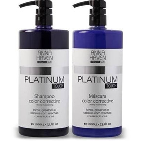 Anna Haven Platinum Touch Prof. Shampoo + Máscara (1 Litro)