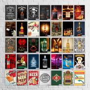 Placas Cerveja Whisky Retro Vintage Refrigerante 10un.