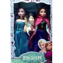 2 Bonecas Do Filme Frozen Disney Anna Elsa E Olaf Musical