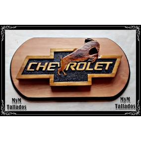 Logo De Madera Con Base Chevrolet / Ford Y Muchos Más!!