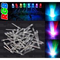 100 Led Rgb 4 Pines Ultrabrillantes 5mm - Ánodo/cátodo Común