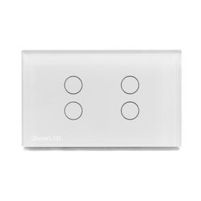 Interruptor Apagador Tactil 4 Botones Vl-c304-81 Duraled