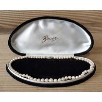 Collar De Perlas Cultivadas Con Broche En Oro Con Brillante