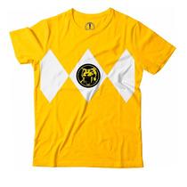 Camiseta Power Rangers Uniforme T-shirts Camisa