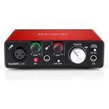 Interface Placa Áudio Focusrite Scarlett Solo 2 Geração C/nf