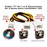 Zfan03y Cable Y Para Duplicar Conector 3 Pines Computoys