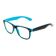 Armação De Óculos Thomaston Reeves Preto E Azul