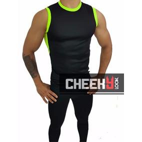 Conjunto Deportivo Masculino Licra Y Camiseta Gym Entrenar