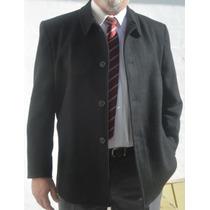 Gaban Hombre Talles Especiales Desde 58 Al 62 Paño Negro