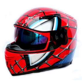 Casco De Motocicleta Spiderman Novedoso Nuevo
