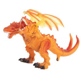 Pk Juguetes Dragon Dino 2 Cabeza Niños Baratos Sonido 3313