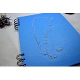 Cuaderno A5 Bordado Argentina - 80 Hojas Lisas/ray/cuadric