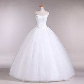 Vestido Novia Escote Corazón Ivory Sencillo Hermoso