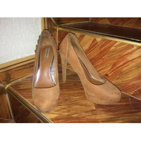Tacones Zapatos Altos De Plataforma Bershka Talla 40 Marrón