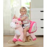 Caballito Pony Unicornio Montable Mecedora Peluche Hermoso!