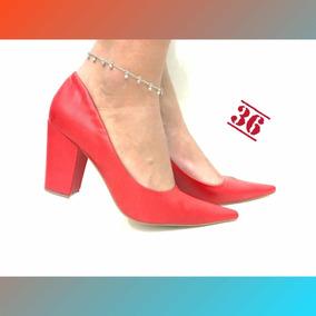 ff88fbc995 Sapato Scarpin Ouro Velho - Sapatos Vermelho no Mercado Livre Brasil