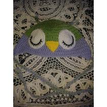 Gorro Tejido A Crochet Búho, Minnie, Gato, Oso - Ajuar Bebé