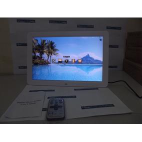 Porta Retrato Digital Tela 12 Pol Sd Usb Mp3 Controle Remoto