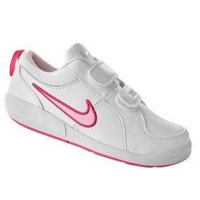 Tênis Infantil Nike Pico 4 Psv 454477-103 - Branco/rosa