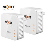 Kit Adaptador De Red Cableada Powerline Nexxt Sparx 300mbs