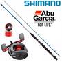 Combo Bait Abu Garcia Blackmax3 + Caña Shimano + Multi 40 Lb