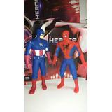 Promo 1 Muñeco Del Capitán América + 1 Muñeco De Spiderman