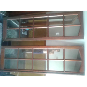 Puerta Corrediza De Cedro - 1,3m X 2,1m-vidrio Repartido Esp