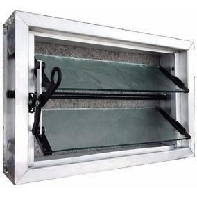 Aireador Ventiluz Aluminio Natural 40x26 C/reja Y Mosquitero