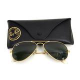 Óculos Rayban Rb3026 Aviador Original Dourado Lente Preta