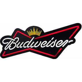 Placa Luminoso Acrilico Budweiser Cerveja 73x35cm Quadro Bar