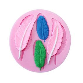 Pastel 3d Diy Decor Pluma En Forma De Fondant Azúcar Pastel