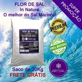 Flor De Sal Artsal Saco Com 20kg (35% Menos Sódio)