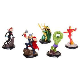 Set De Figuras Avengers (iron Man, Thor, Loki, Hulk Y Black
