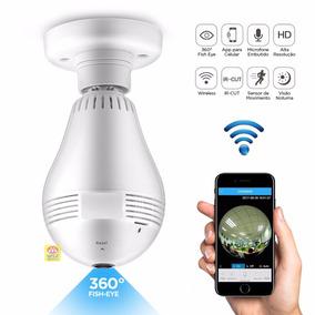 Câmera Segurança Ip Hd 360 Graus Wireless Discreta Espiã