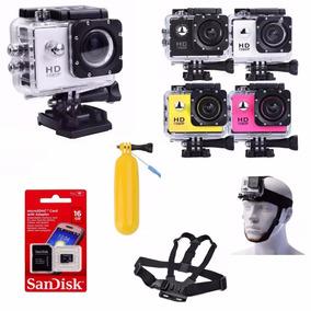 Câmera Go Sport P Dagua Pro + Sd + Baia + Sup Cabeça + Peito