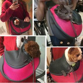 Mochila Canguru Transporte Pet Cães Gatos Rosa M