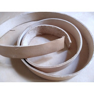 Lonjas Cuero Vaqueta Natural 25mm. Cinturones, Collares, Etc