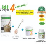 Kitcorps Herbalife Shake + Proteina 240g + Fiberbond +colher