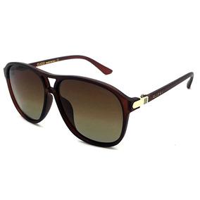 Oculos De Sol Feminino Gg16 Gucci Degradê Uv400 Transparente
