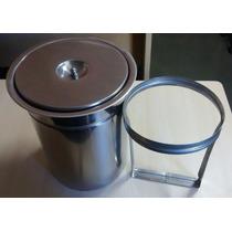 Lixeira Pia Cozinha Embutir No Granito Em Inox - 03 Litros