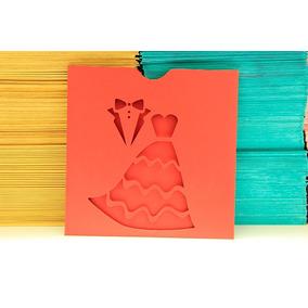 Sobres Calados Personalizados Varios Colores Pack X 50
