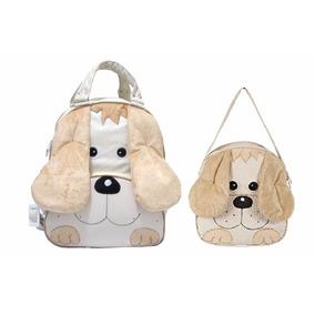 Kit Mochila Infantil Cachorro P + G - Menino - Bebê Escolar