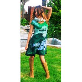 Vestidos color verde agua cortos