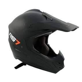 Casco Moto Cross Hawk Rs7 Negro Mate Atv Oferta Devotobikes