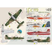 Decal Fcm Avião Emb 312 Tucano 1/72 Fcm72049 Plastimodelismo