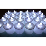 24 Velas Led Luz Blanca Con Pilas Incorporadas
