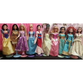 Hermosas Muñecas Barbies Princesas De Disney Como Nuevas