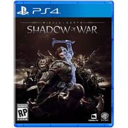 Shadow Of War - Ps4 Fisico Nuevo & Sellado